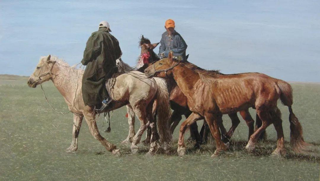 蒙古马  内蒙古当代美术作品微展(三) 第5张