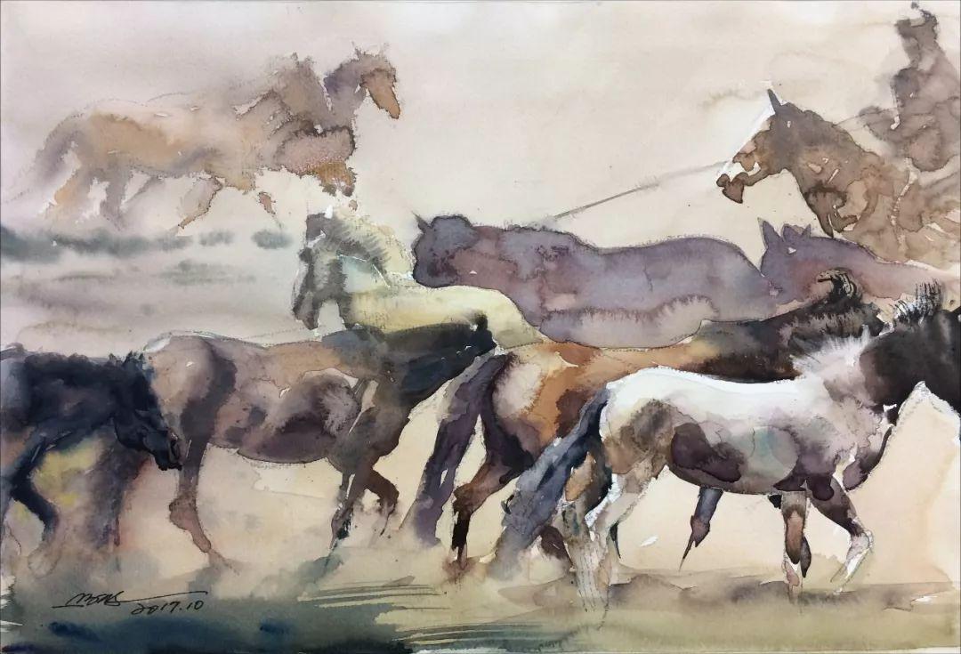 蒙古马  内蒙古当代美术作品微展(三) 第10张