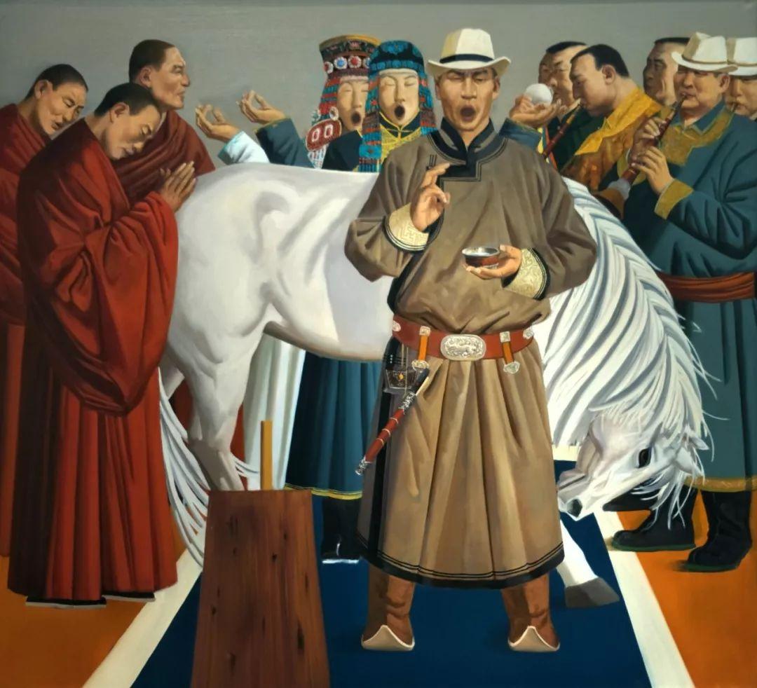 蒙古马 内蒙古当代美术作品微展(二) 第3张 蒙古马 内蒙古当代美术作品微展(二) 蒙古画廊