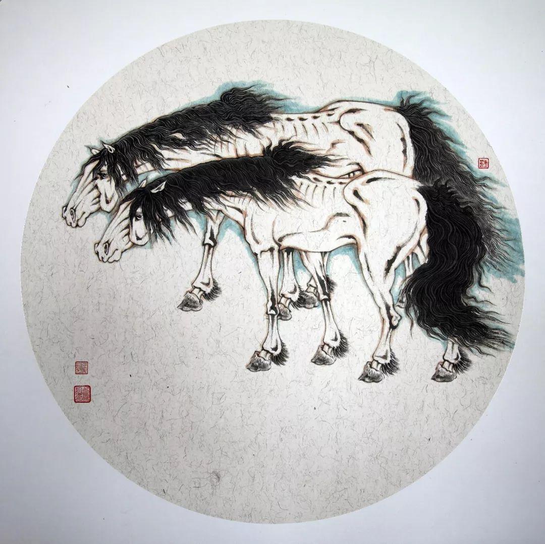 蒙古马 内蒙古当代美术作品微展(二) 第4张 蒙古马 内蒙古当代美术作品微展(二) 蒙古画廊