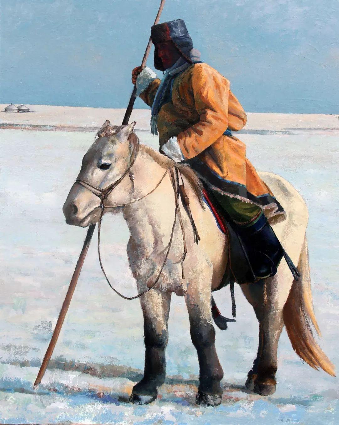 蒙古马 内蒙古当代美术作品微展(二) 第6张 蒙古马 内蒙古当代美术作品微展(二) 蒙古画廊