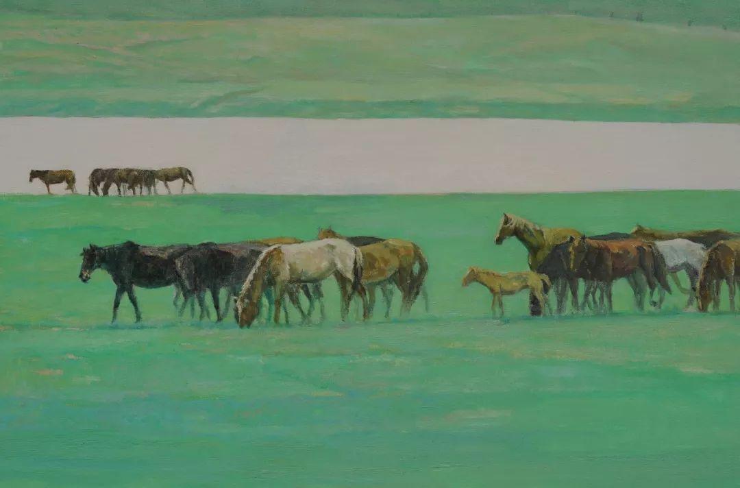 蒙古马 内蒙古当代美术作品微展(二) 第10张 蒙古马 内蒙古当代美术作品微展(二) 蒙古画廊