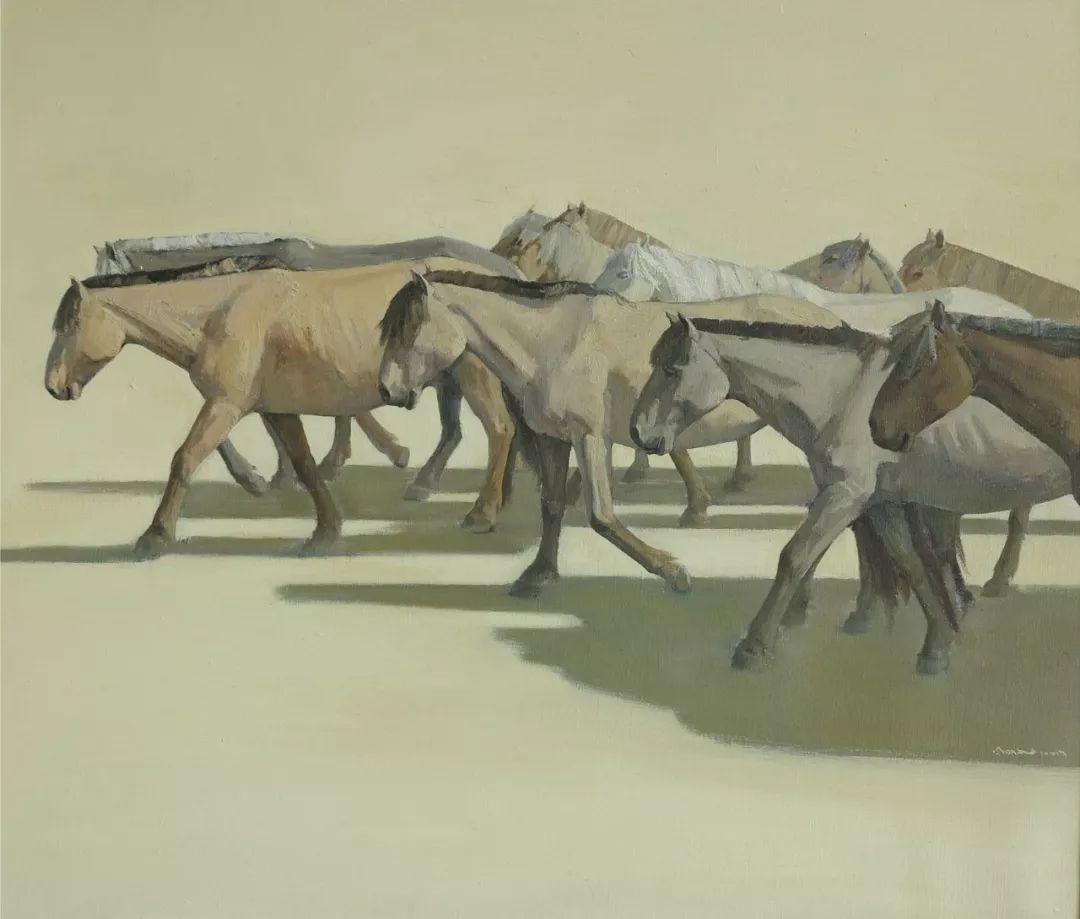 蒙古马 内蒙古当代美术作品微展(二) 第9张 蒙古马 内蒙古当代美术作品微展(二) 蒙古画廊