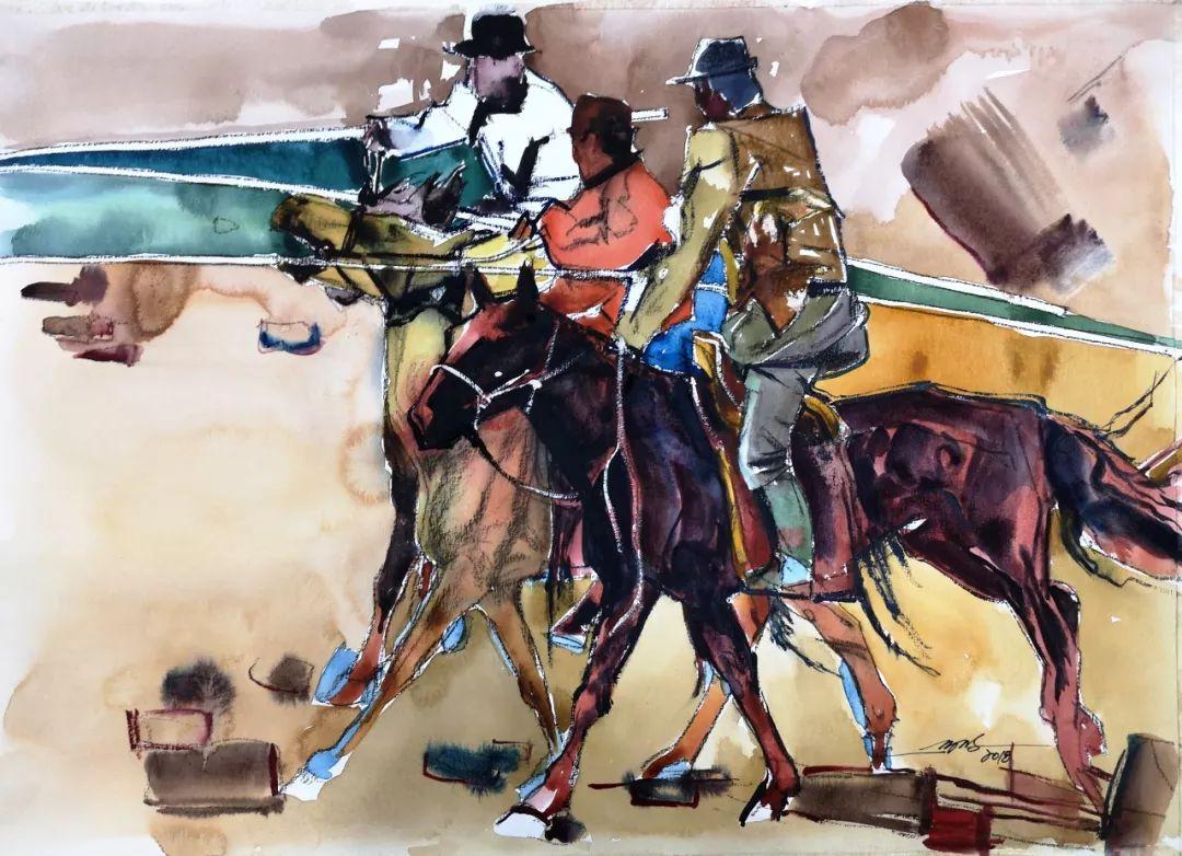蒙古马 内蒙古当代美术作品微展(二) 第13张 蒙古马 内蒙古当代美术作品微展(二) 蒙古画廊
