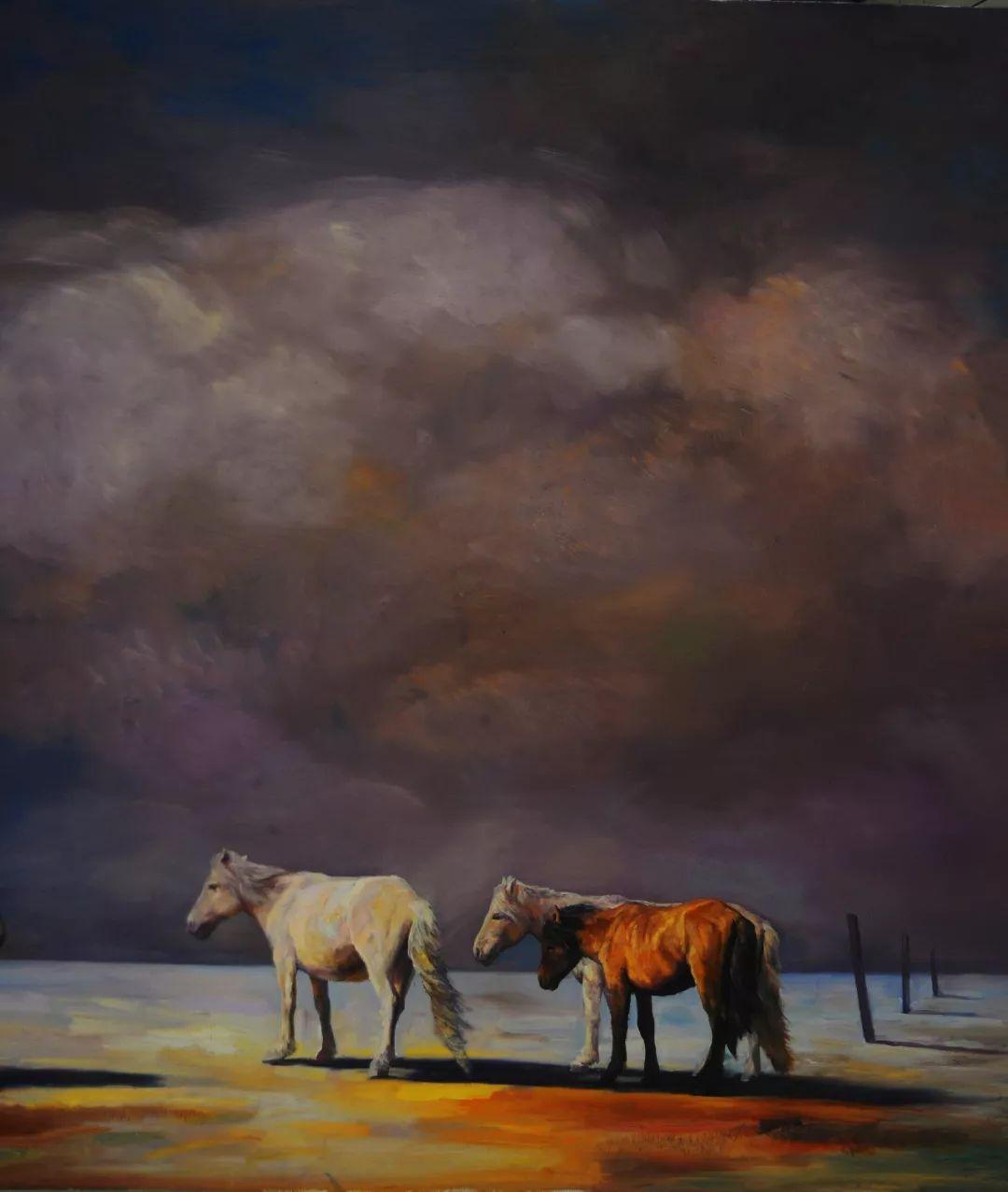蒙古马 内蒙古当代美术作品微展(二) 第12张 蒙古马 内蒙古当代美术作品微展(二) 蒙古画廊
