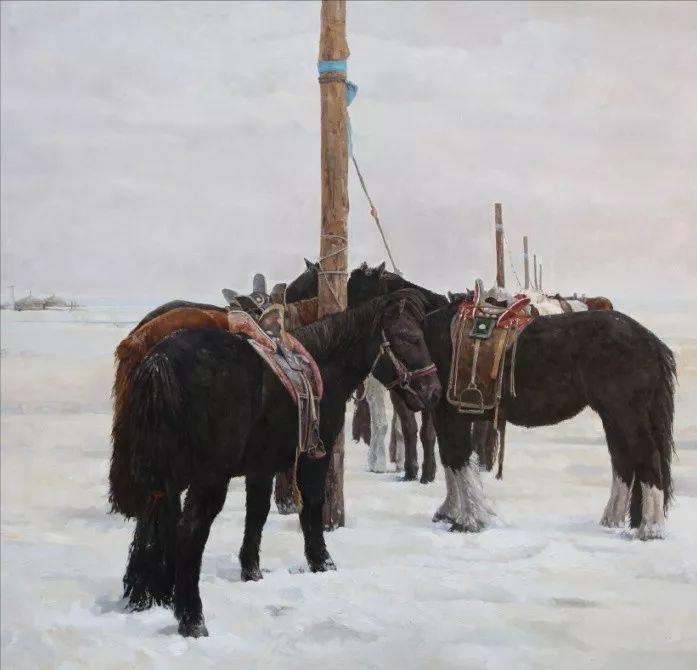 蒙古马 内蒙古当代美术作品微展(二) 第15张 蒙古马 内蒙古当代美术作品微展(二) 蒙古画廊