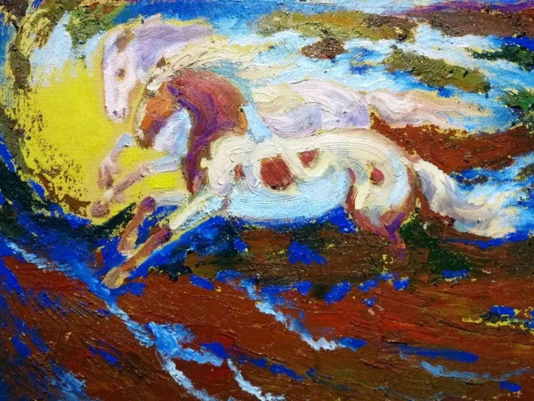 蒙古马 内蒙古当代美术作品微展(二) 第14张 蒙古马 内蒙古当代美术作品微展(二) 蒙古画廊