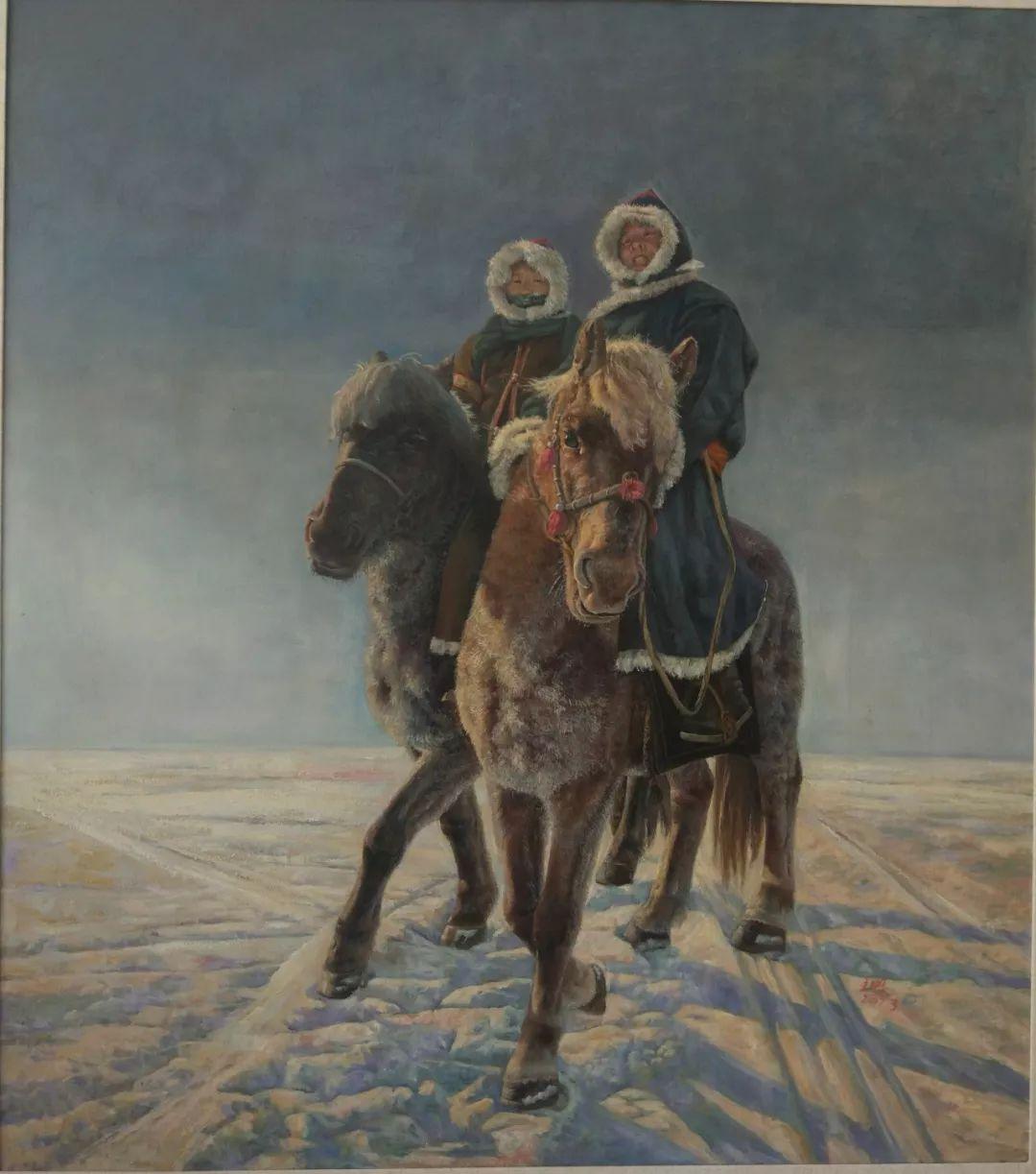 蒙古马 内蒙古当代美术作品微展(二) 第17张 蒙古马 内蒙古当代美术作品微展(二) 蒙古画廊