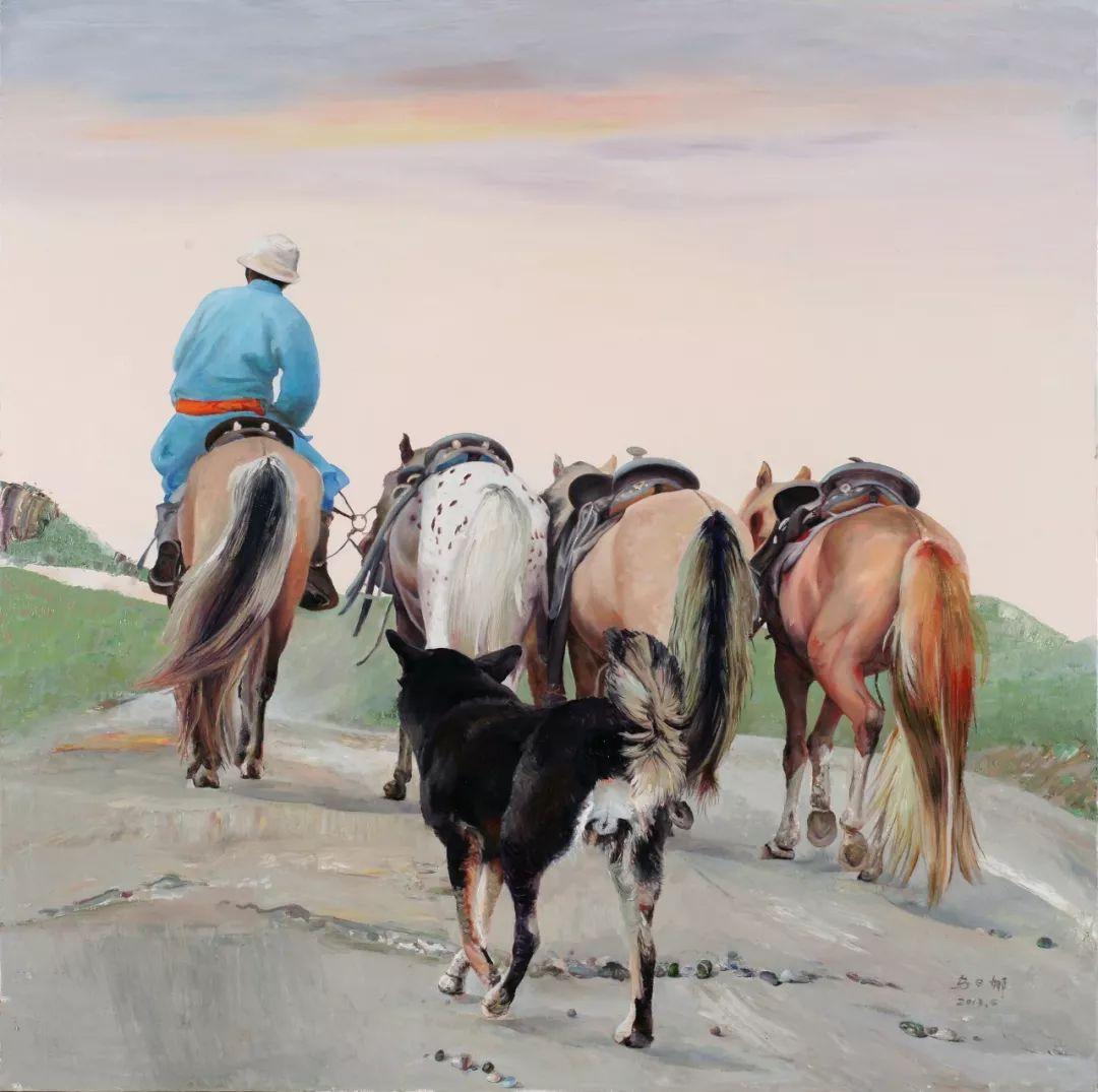 蒙古马 内蒙古当代美术作品微展(二) 第21张 蒙古马 内蒙古当代美术作品微展(二) 蒙古画廊