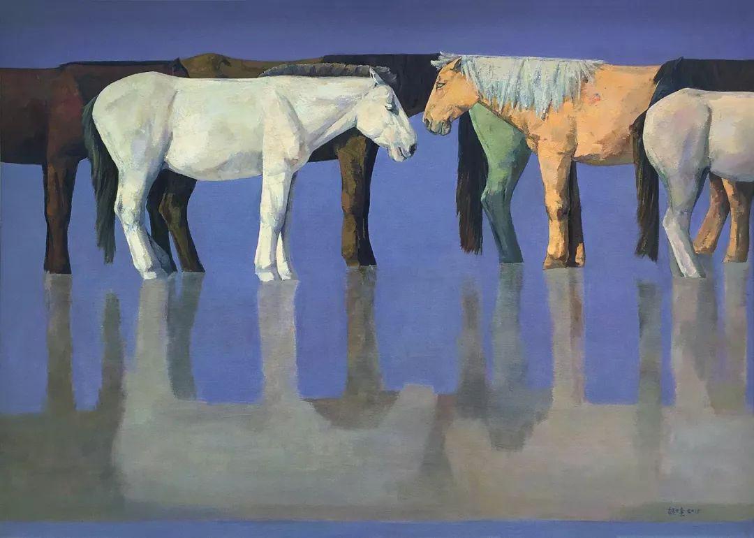 蒙古马  内蒙古当代美术作品微展(一) 第2张 蒙古马   内蒙古当代美术作品微展(一) 蒙古画廊