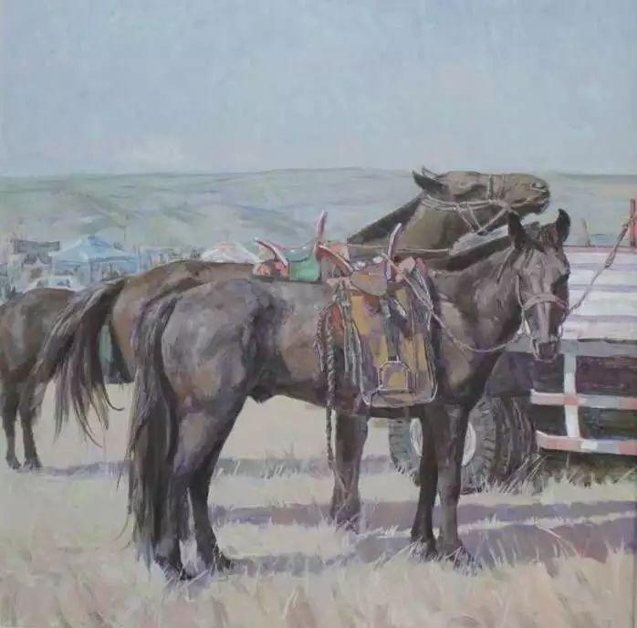 蒙古马  内蒙古当代美术作品微展(一) 第9张 蒙古马   内蒙古当代美术作品微展(一) 蒙古画廊