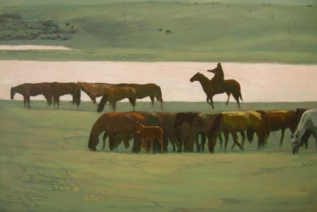蒙古马  内蒙古当代美术作品微展(一) 第10张 蒙古马   内蒙古当代美术作品微展(一) 蒙古画廊