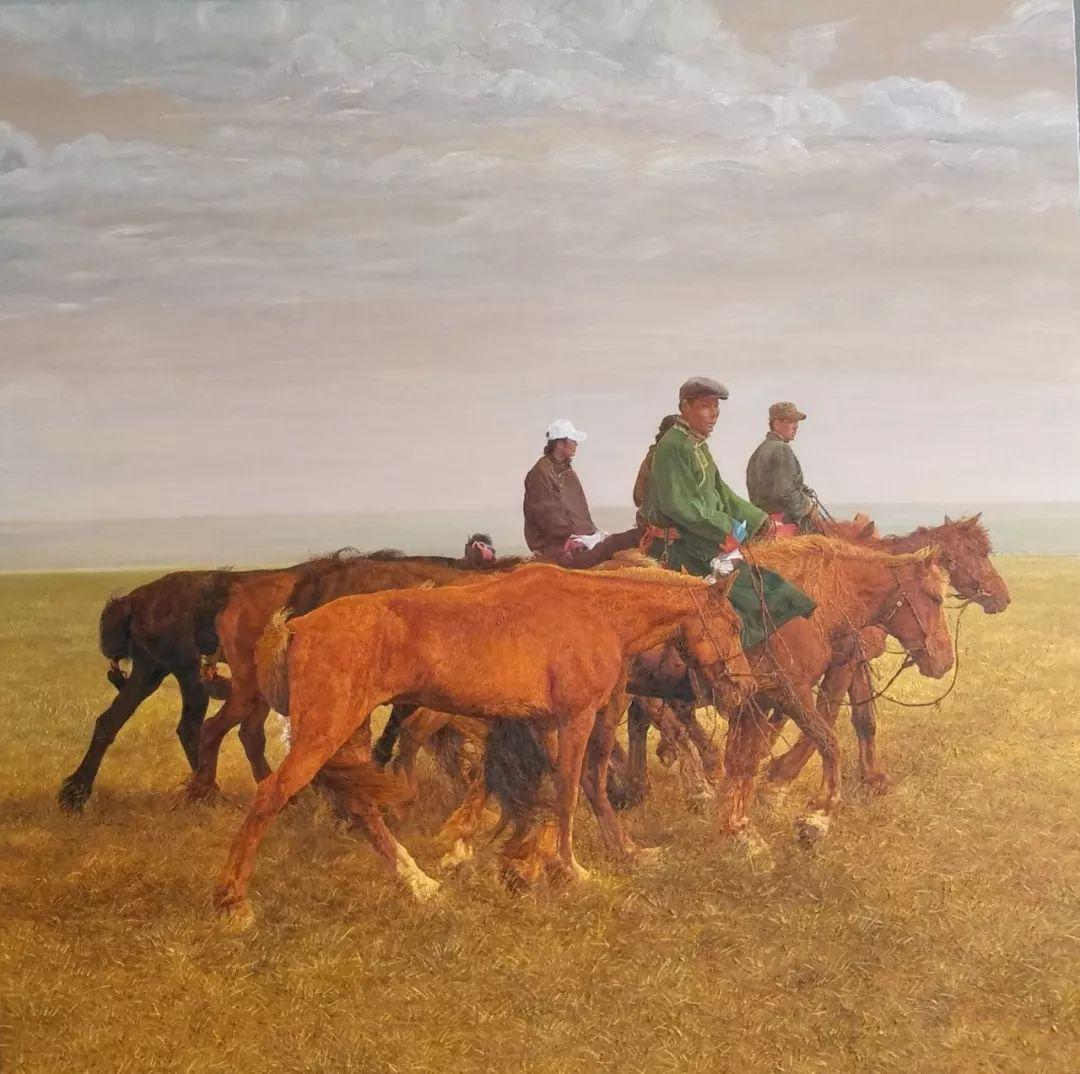 蒙古马  内蒙古当代美术作品微展(一) 第11张 蒙古马   内蒙古当代美术作品微展(一) 蒙古画廊