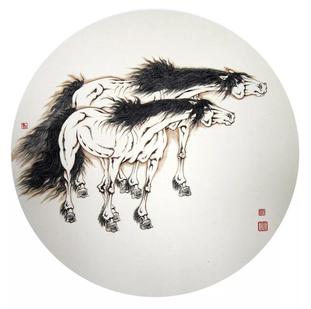 蒙古马  内蒙古当代美术作品微展(一) 第16张 蒙古马   内蒙古当代美术作品微展(一) 蒙古画廊