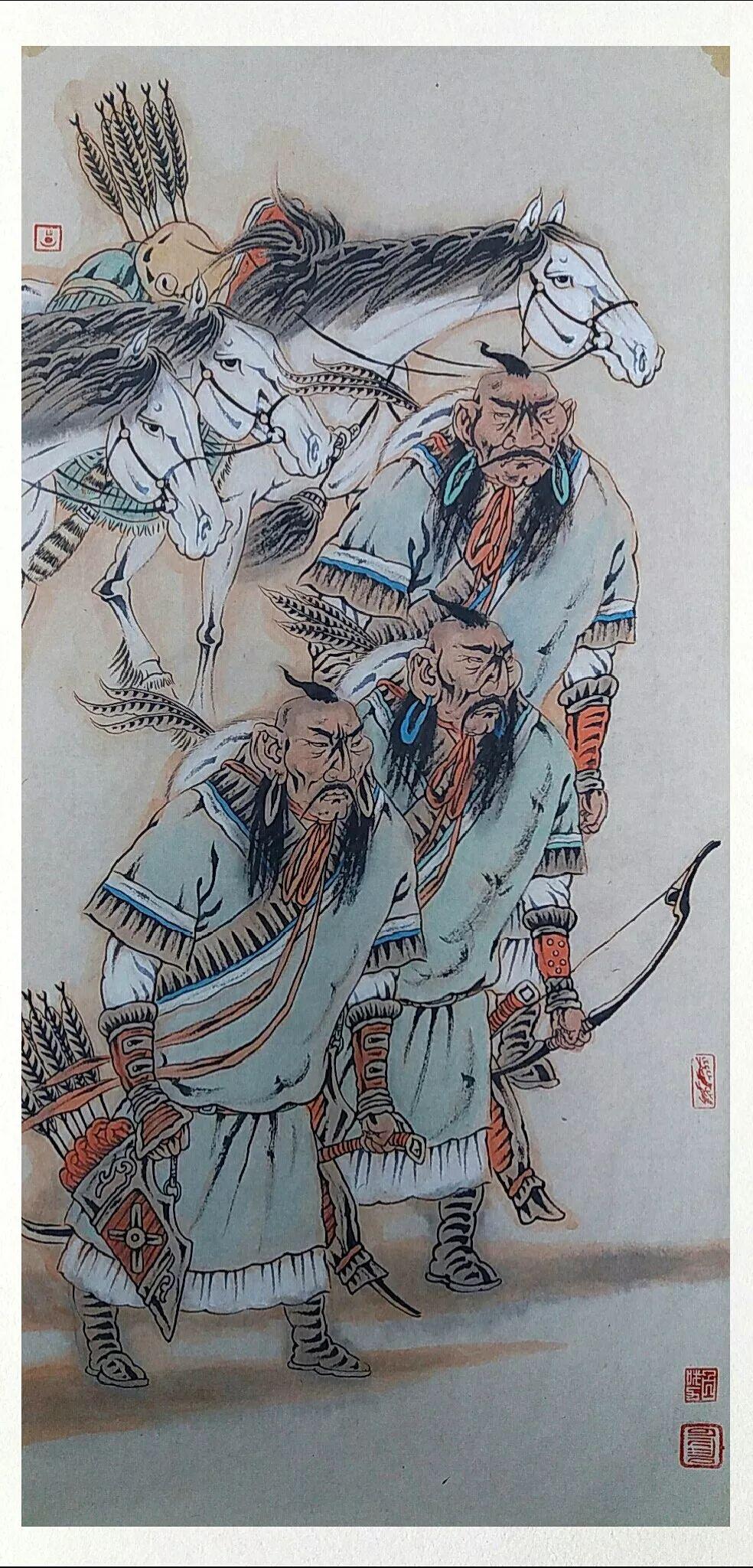 内蒙古当代美术家系列——白嘎力中国画作品选 第4张 内蒙古当代美术家系列——白嘎力中国画作品选 蒙古画廊