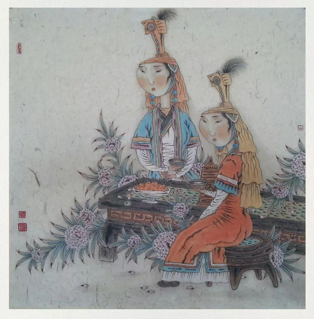 内蒙古当代美术家系列——白嘎力中国画作品选 第2张 内蒙古当代美术家系列——白嘎力中国画作品选 蒙古画廊