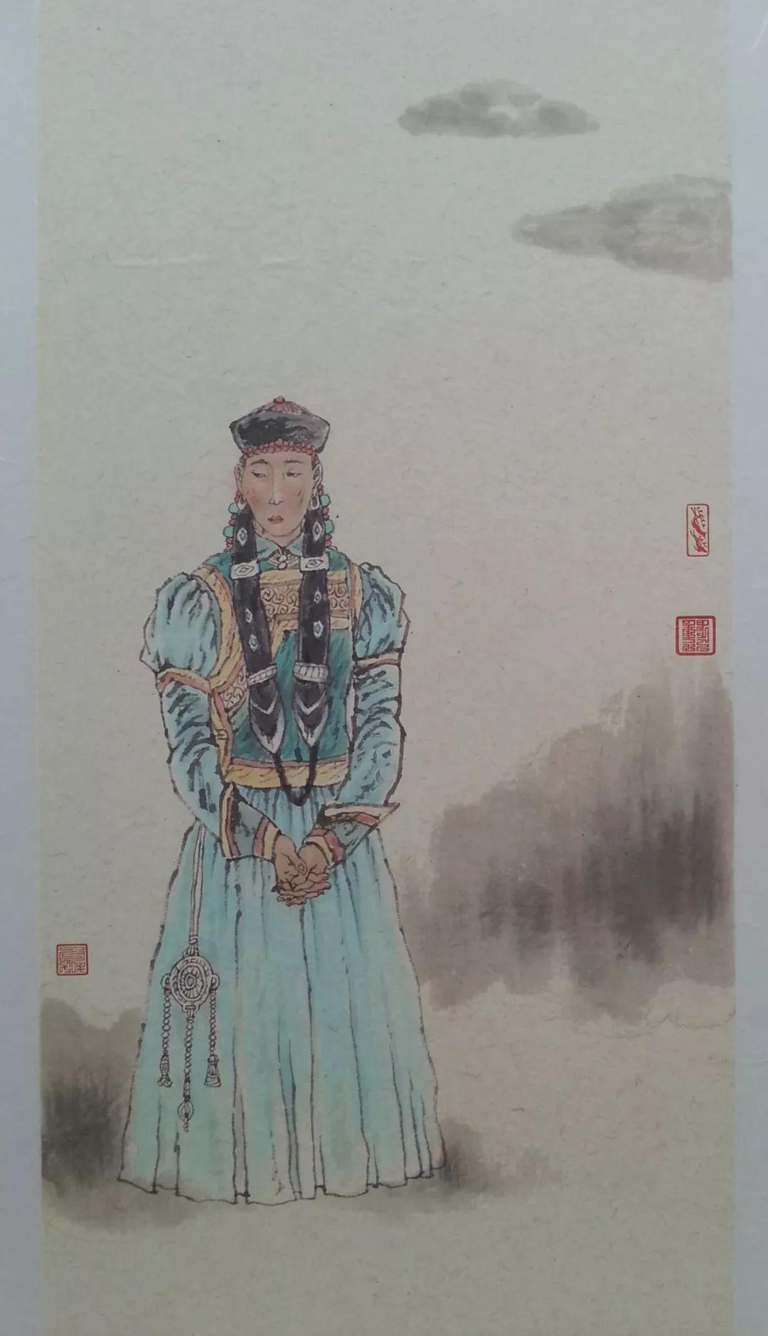 内蒙古当代美术家系列——白嘎力中国画作品选 第3张