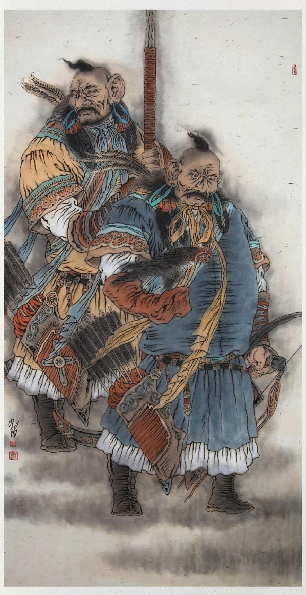 内蒙古当代美术家系列——白嘎力中国画作品选 第20张 内蒙古当代美术家系列——白嘎力中国画作品选 蒙古画廊