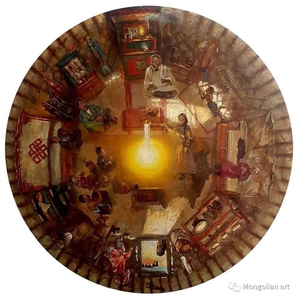 蒙古国美术家协会会员画家Б.Содномдаржаа 第2张 蒙古国美术家协会会员画家Б.Содномдаржаа 蒙古画廊