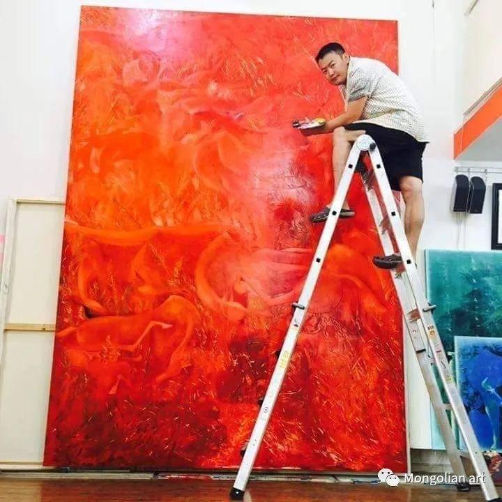蒙古国美术家协会获奖艺术家,画家,雕塑家Adyaabazar Chadraabal 第2张