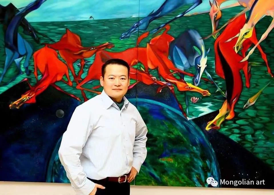 蒙古国美术家协会获奖艺术家,画家,雕塑家Adyaabazar Chadraabal 第1张