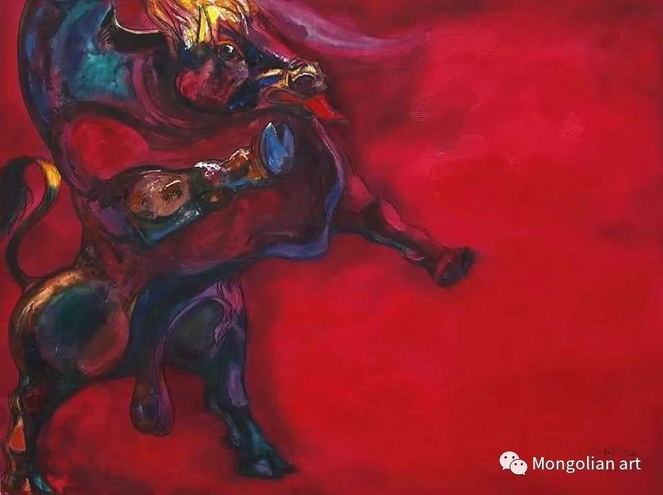 蒙古国美术家协会获奖艺术家,画家,雕塑家Adyaabazar Chadraabal 第3张