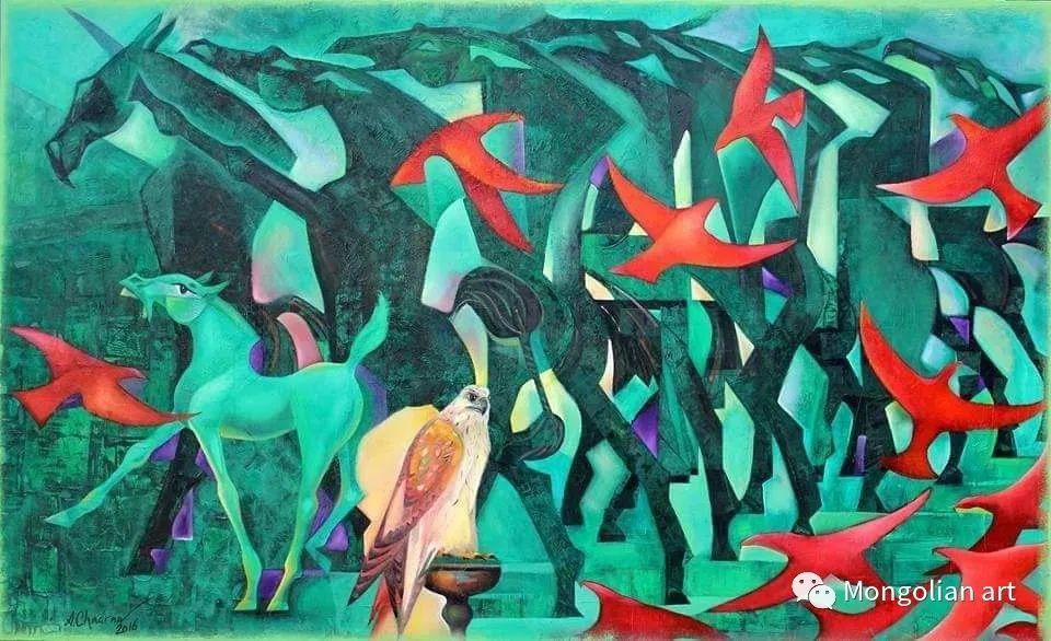 蒙古国美术家协会获奖艺术家,画家,雕塑家Adyaabazar Chadraabal 第4张