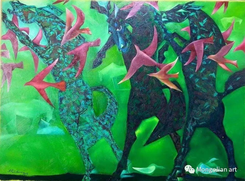 蒙古国美术家协会获奖艺术家,画家,雕塑家Adyaabazar Chadraabal 第8张