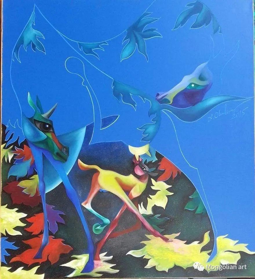 蒙古国美术家协会获奖艺术家,画家,雕塑家Adyaabazar Chadraabal 第14张