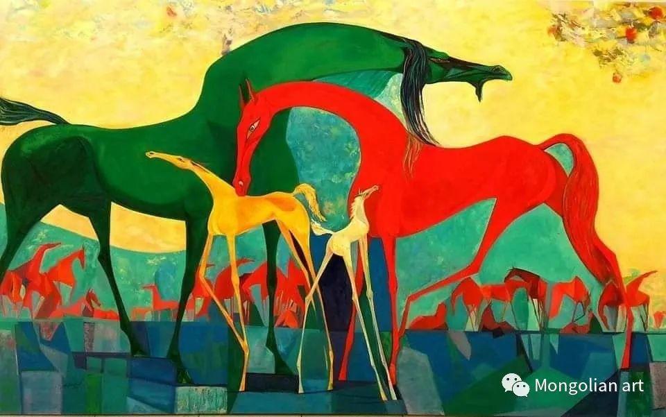 蒙古国美术家协会获奖艺术家,画家,雕塑家Adyaabazar Chadraabal 第12张
