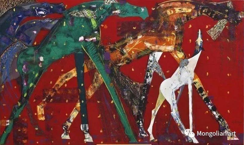 蒙古国美术家协会获奖艺术家,画家,雕塑家Adyaabazar Chadraabal 第13张