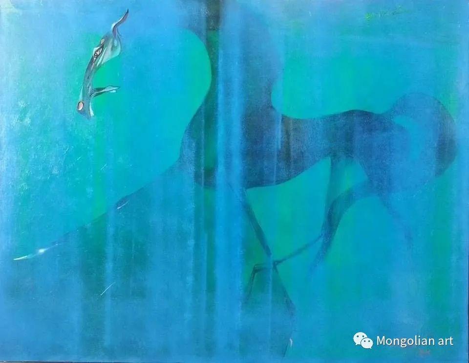 蒙古国美术家协会获奖艺术家,画家,雕塑家Adyaabazar Chadraabal 第17张