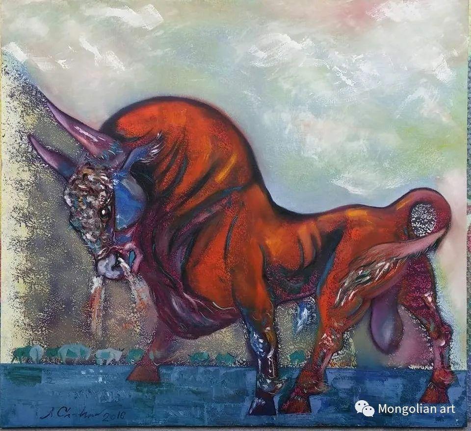 蒙古国美术家协会获奖艺术家,画家,雕塑家Adyaabazar Chadraabal 第21张