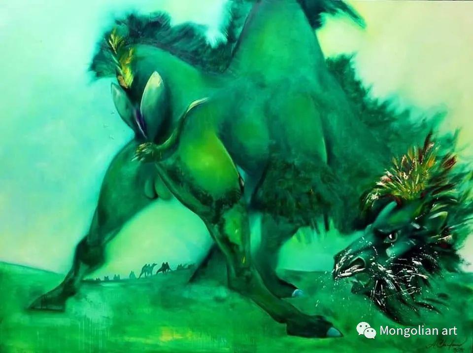蒙古国美术家协会获奖艺术家,画家,雕塑家Adyaabazar Chadraabal 第20张