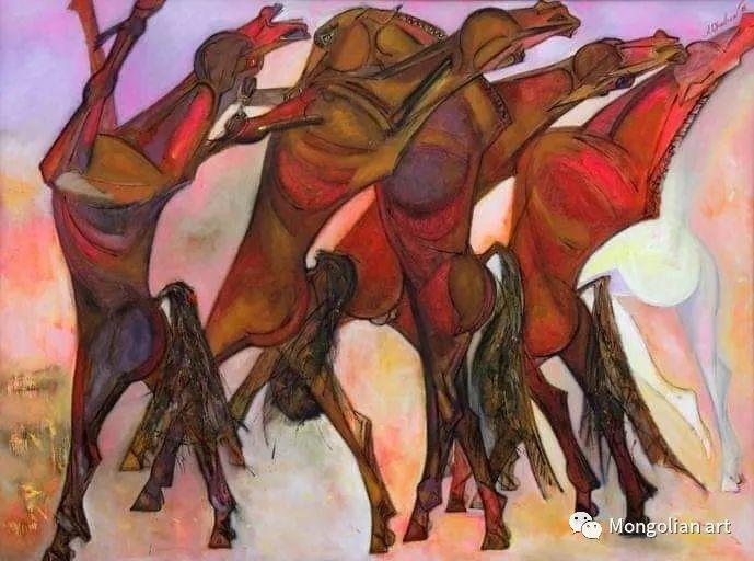 蒙古国美术家协会获奖艺术家,画家,雕塑家Adyaabazar Chadraabal 第18张