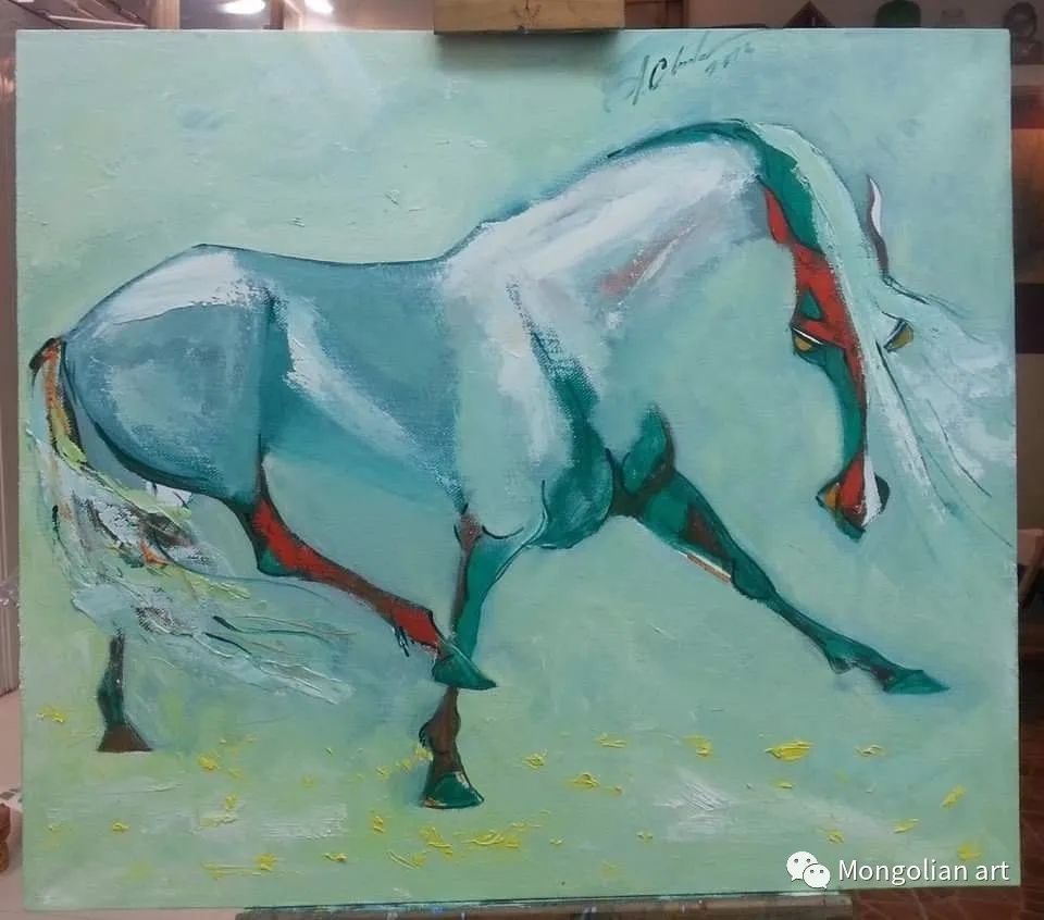 蒙古国美术家协会获奖艺术家,画家,雕塑家Adyaabazar Chadraabal 第24张