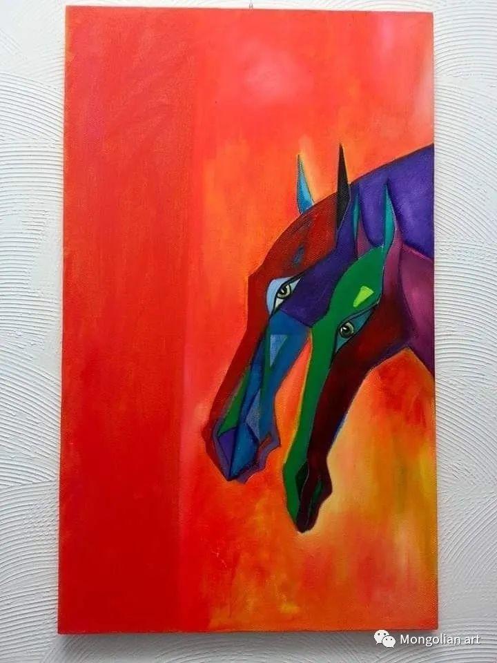 蒙古国美术家协会获奖艺术家,画家,雕塑家Adyaabazar Chadraabal 第25张