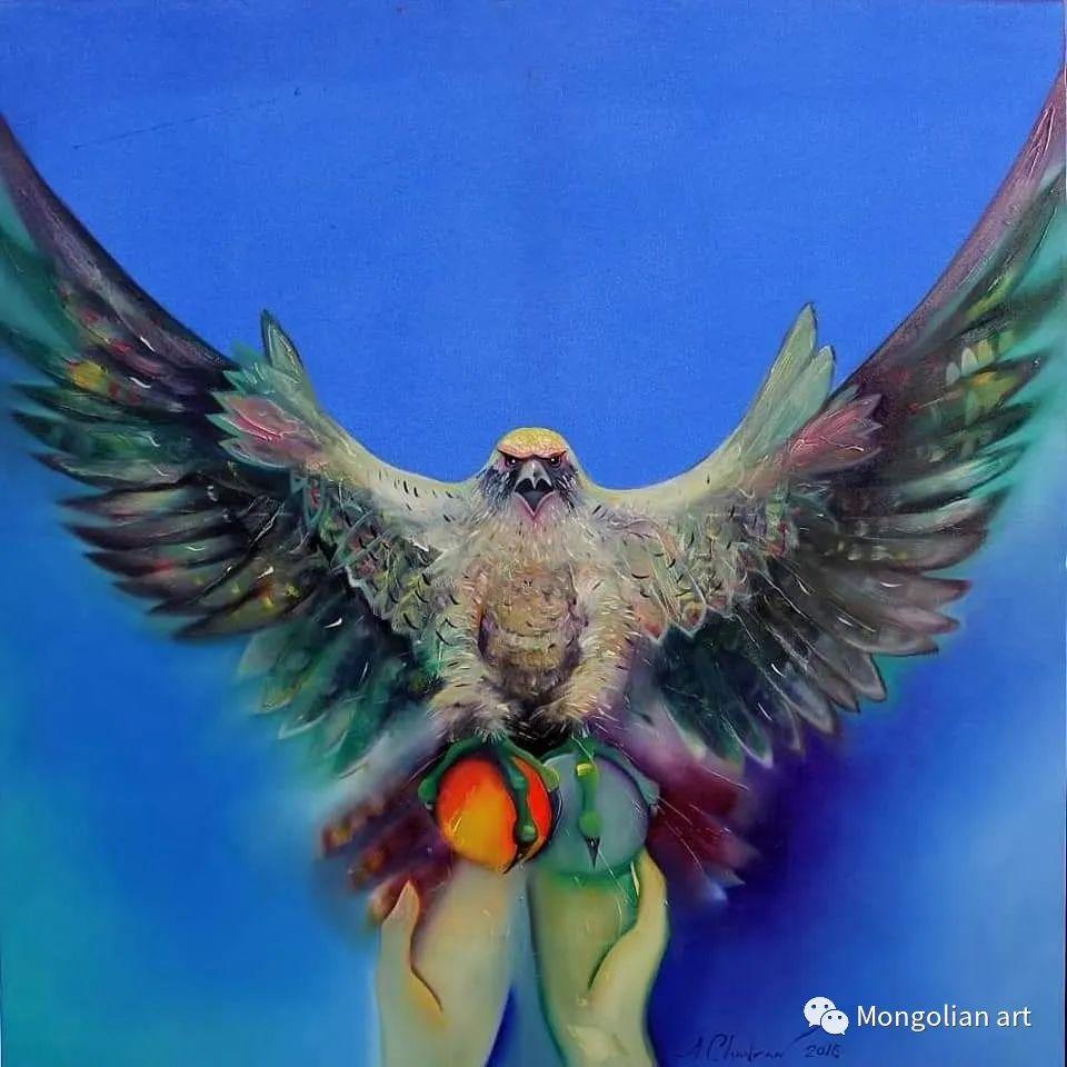 蒙古国美术家协会获奖艺术家,画家,雕塑家Adyaabazar Chadraabal 第23张
