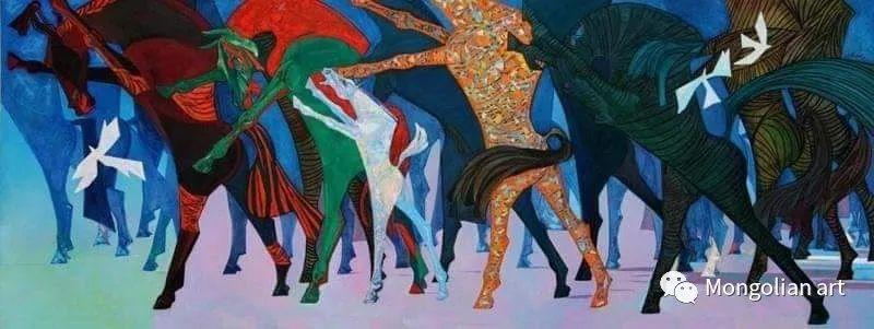 蒙古国美术家协会获奖艺术家,画家,雕塑家Adyaabazar Chadraabal 第22张