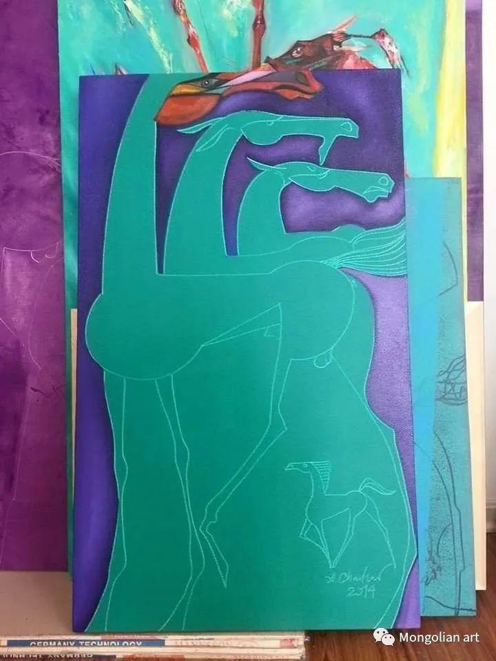 蒙古国美术家协会获奖艺术家,画家,雕塑家Adyaabazar Chadraabal 第27张