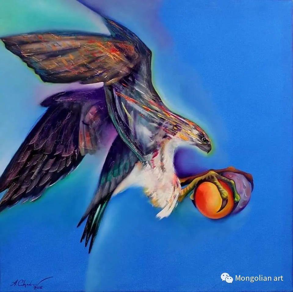 蒙古国美术家协会获奖艺术家,画家,雕塑家Adyaabazar Chadraabal 第31张