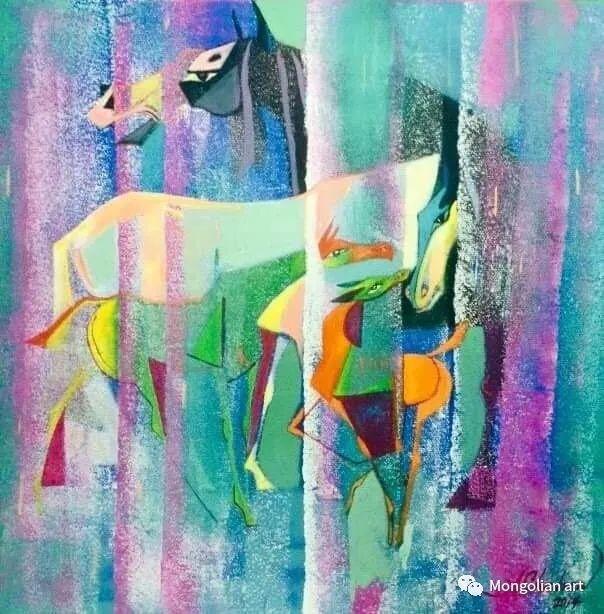 蒙古国美术家协会获奖艺术家,画家,雕塑家Adyaabazar Chadraabal 第30张