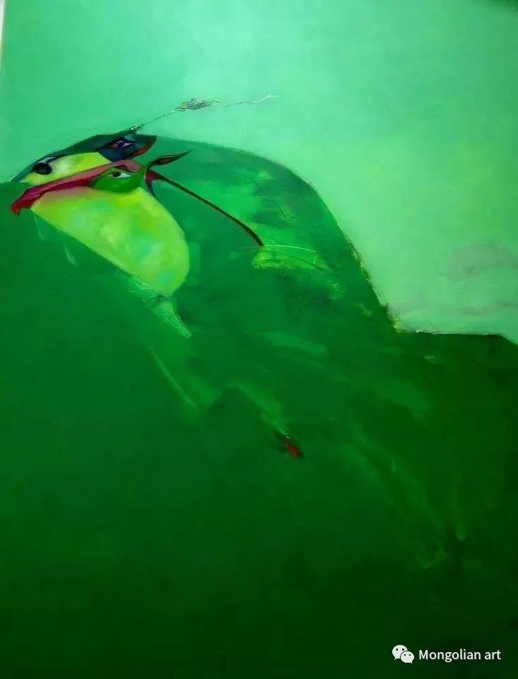 蒙古国美术家协会获奖艺术家,画家,雕塑家Adyaabazar Chadraabal 第32张