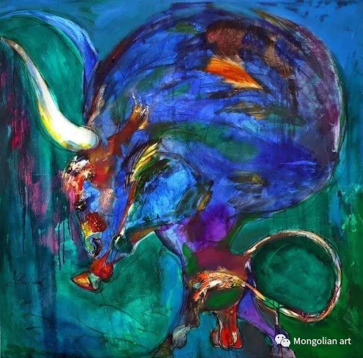 蒙古国美术家协会获奖艺术家,画家,雕塑家Adyaabazar Chadraabal 第37张