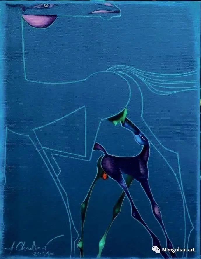 蒙古国美术家协会获奖艺术家,画家,雕塑家Adyaabazar Chadraabal 第34张