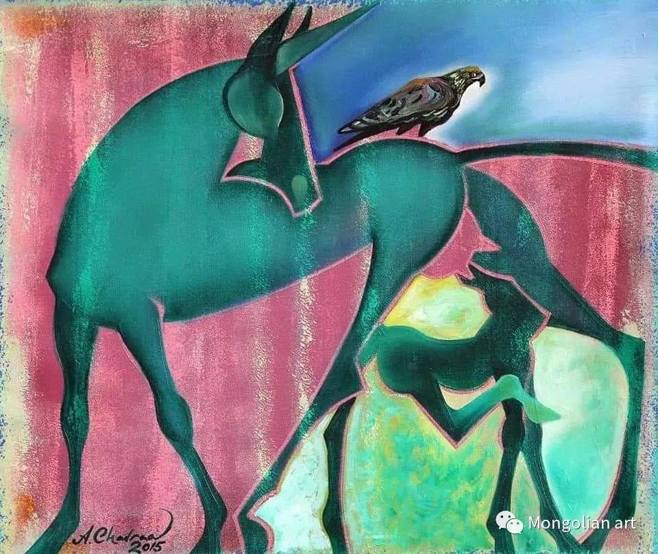 蒙古国美术家协会获奖艺术家,画家,雕塑家Adyaabazar Chadraabal 第40张