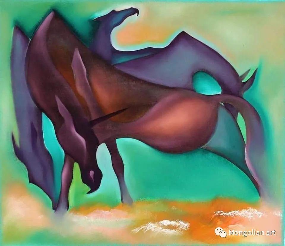 蒙古国美术家协会获奖艺术家,画家,雕塑家Adyaabazar Chadraabal 第39张