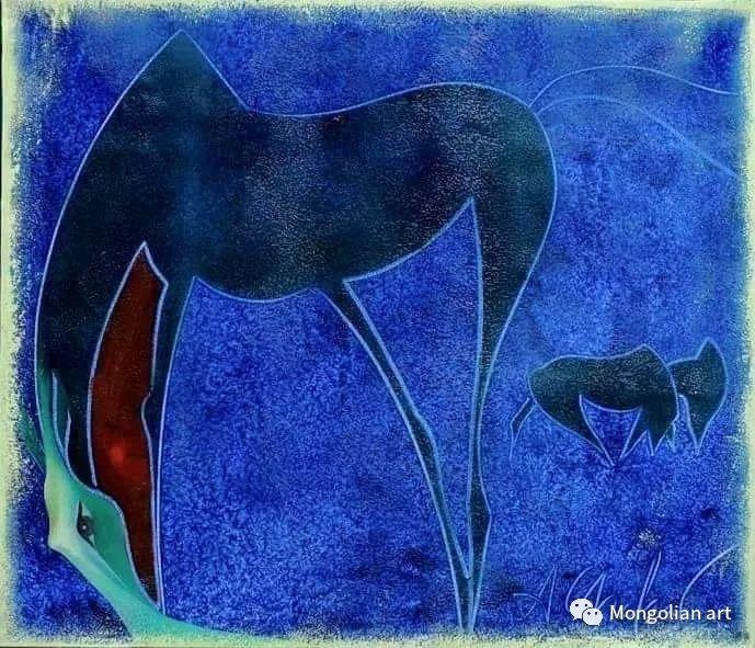 蒙古国美术家协会获奖艺术家,画家,雕塑家Adyaabazar Chadraabal 第43张