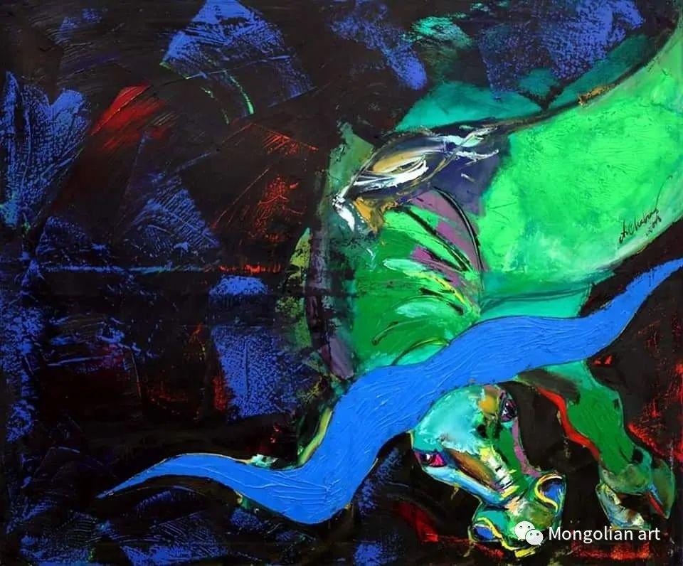 蒙古国美术家协会获奖艺术家,画家,雕塑家Adyaabazar Chadraabal 第47张