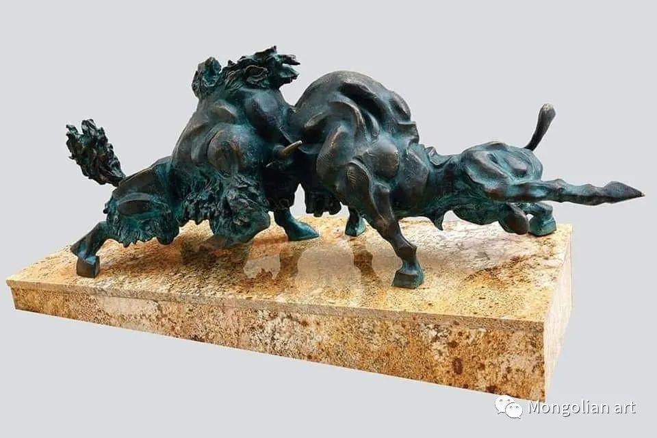 蒙古国美术家协会获奖艺术家,画家,雕塑家Adyaabazar Chadraabal 第49张